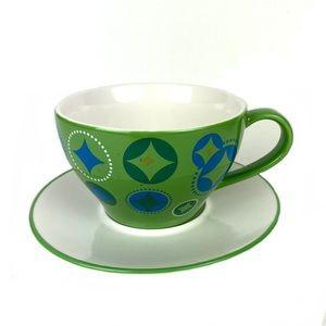 Starbucks Cup & Saucer Set 2006 Coffee Mug